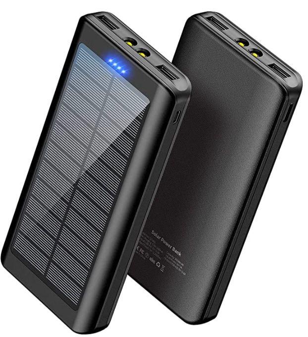 WBPINE Solar Powerbank mit 30.000mAh für 19,60€ (statt 37€)