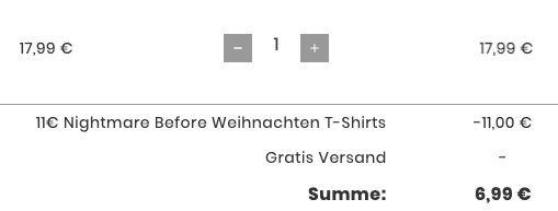 Fehler? Nightmare Before Christmas T Shirts für 6,99€ (statt 20€)