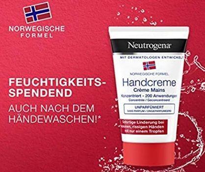 5x Neutrogena Norwegische Formel konzentrierte Handcreme für sehr trockene Hände für 7€ (statt 12€)   Prime Sparabo