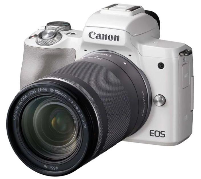 Canon EOS M50 Systemkamera mit Objektiv EF-M 18-150mm IS STM für 649€ (statt 839€)
