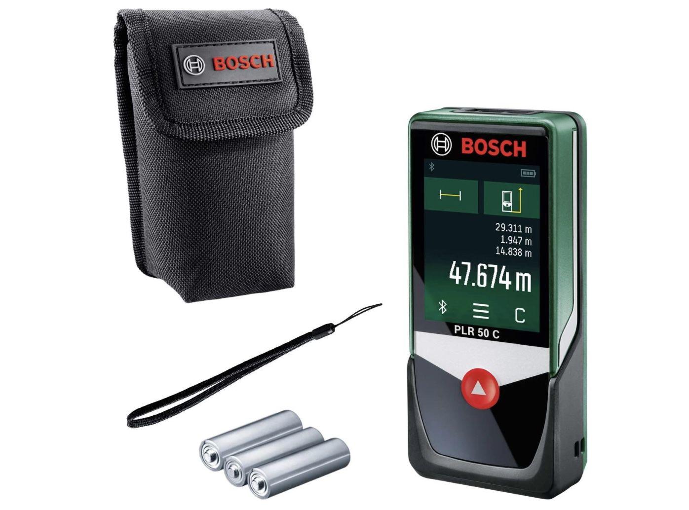 Bosch PLR 50 C Laser Entfernungsmesser für 60,79€ (statt 71€)