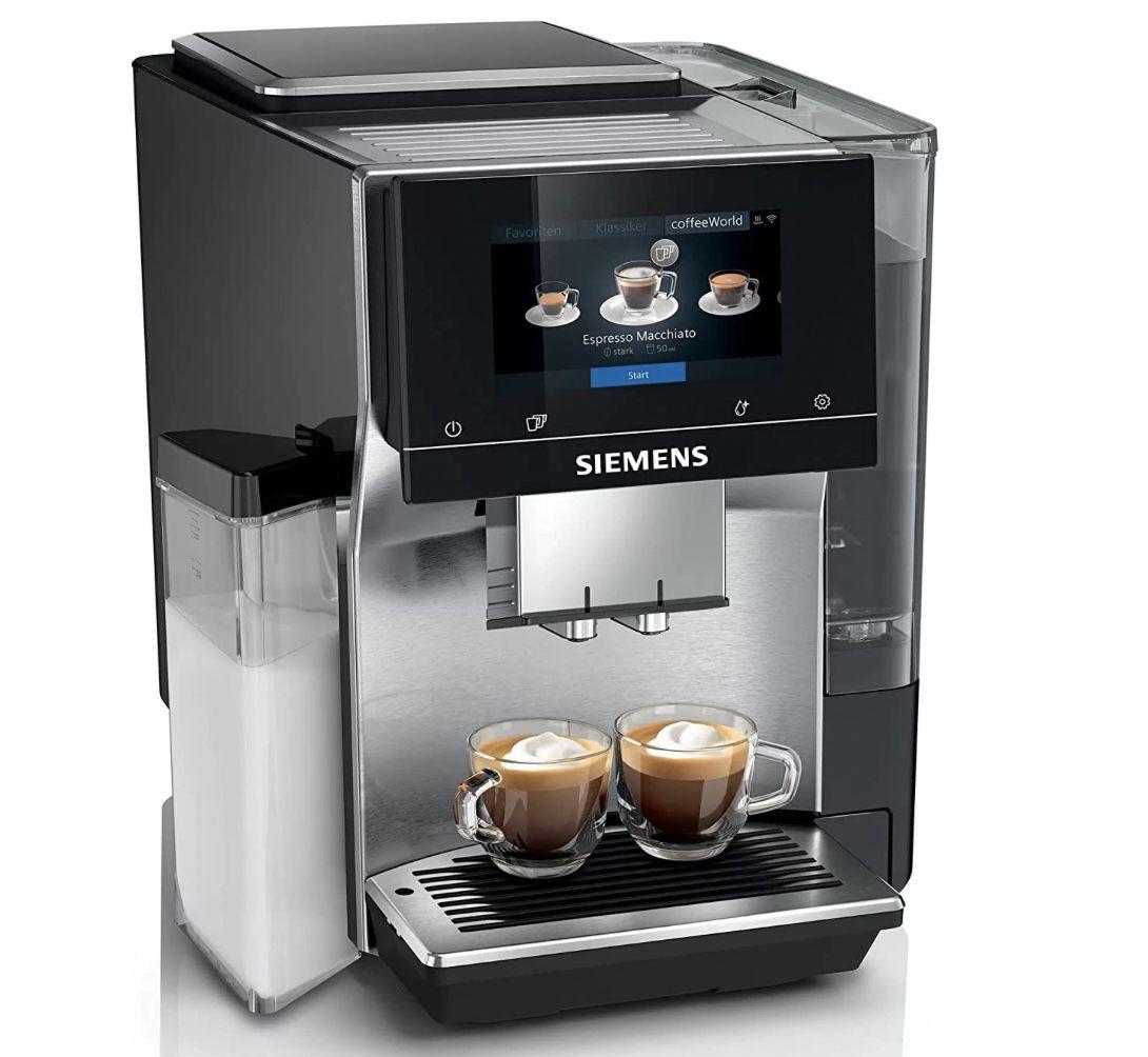 SIEMENS TQ703D07 EQ.700 integral Kaffeevollautomat in Silber/Schwarz für 1.108,40€ (statt 1.389€)