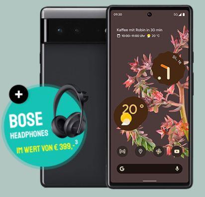 Google Pixel 6 inkl. Bose 700 Headphones für 4,95€ + o2 Allnet-Flat mit 40GB LTE/5G für 34,99€ mtl. + 100€ Bonus