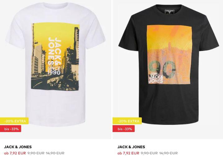 Jack & Jones und s.Oliver T Shirts ab 7,92€ + keine Versandkosten