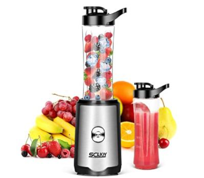 SCIJOY Standmixer mit 2 BPA freien 600ml Tritan Mixbechern für 19,99€ (statt 25€) – Prime