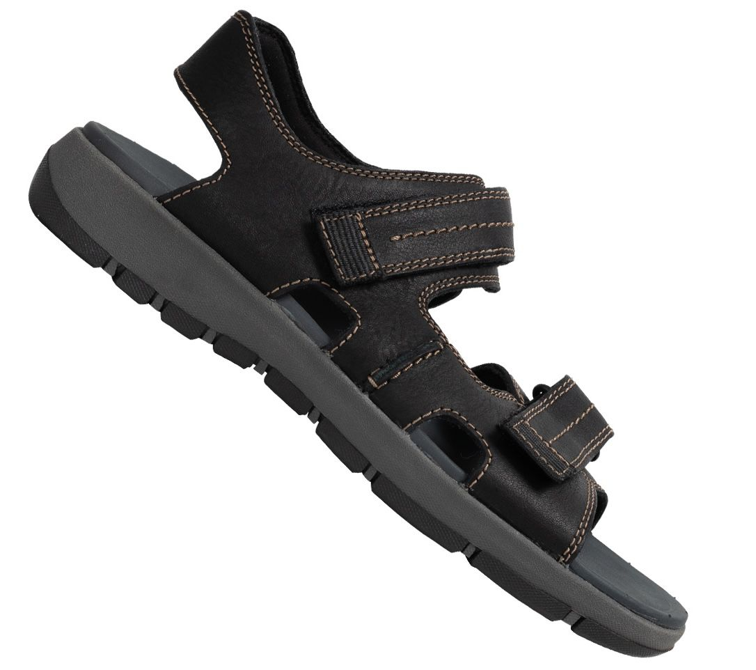 Clarks Brixby Shore Herren Leder Sandalen für 19€(statt 45€)