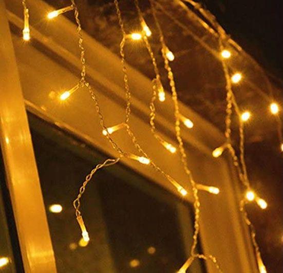Einfeben LED Eisregen Lichterkette mit 15 Meter Länge und 400 LEDs für 17,91€ (statt 28€) – Prime