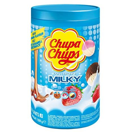 100er Pack Chupa Chups Milky Lutscher in Schlemmerlutscher-Dose ab 9,49€ (statt 14€) – Prime Sparabo