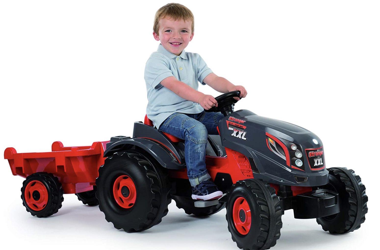 Smoby Traktor Stronger XXL Trettraktor mit Anhänger für 88,74€ (statt 117€)