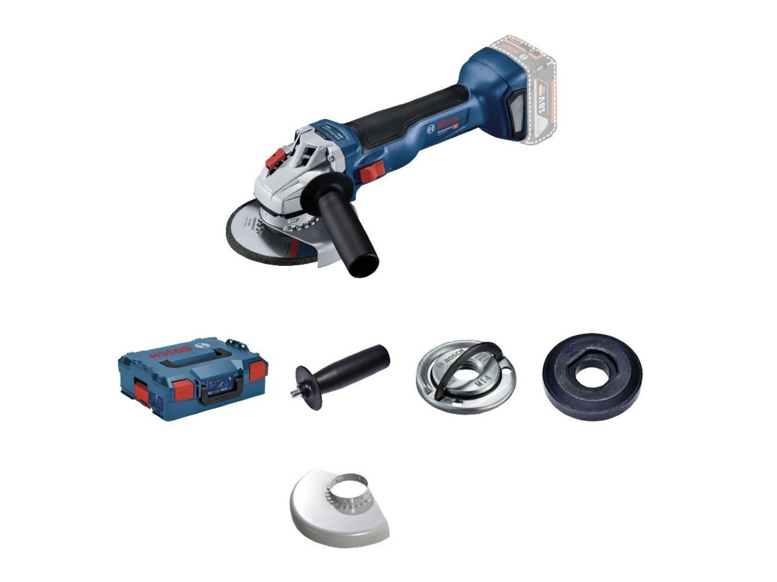 Bosch Professional GWS 18V-10 Akku-Winkelschleifer ohne Akkus und Ladegerät in L-BOXX 136 für 110,22€ (statt 135€)