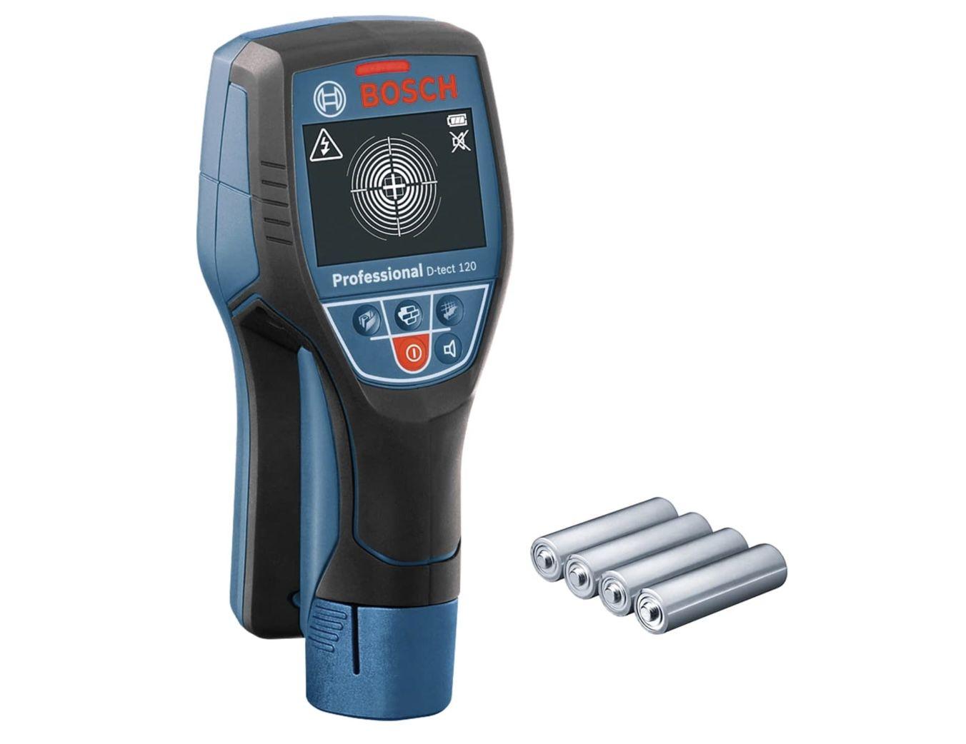 Bosch Professional Ortungsgerät D-tect 120 inkl. 4 x AA Batterien für 152,79€ (statt 176€)