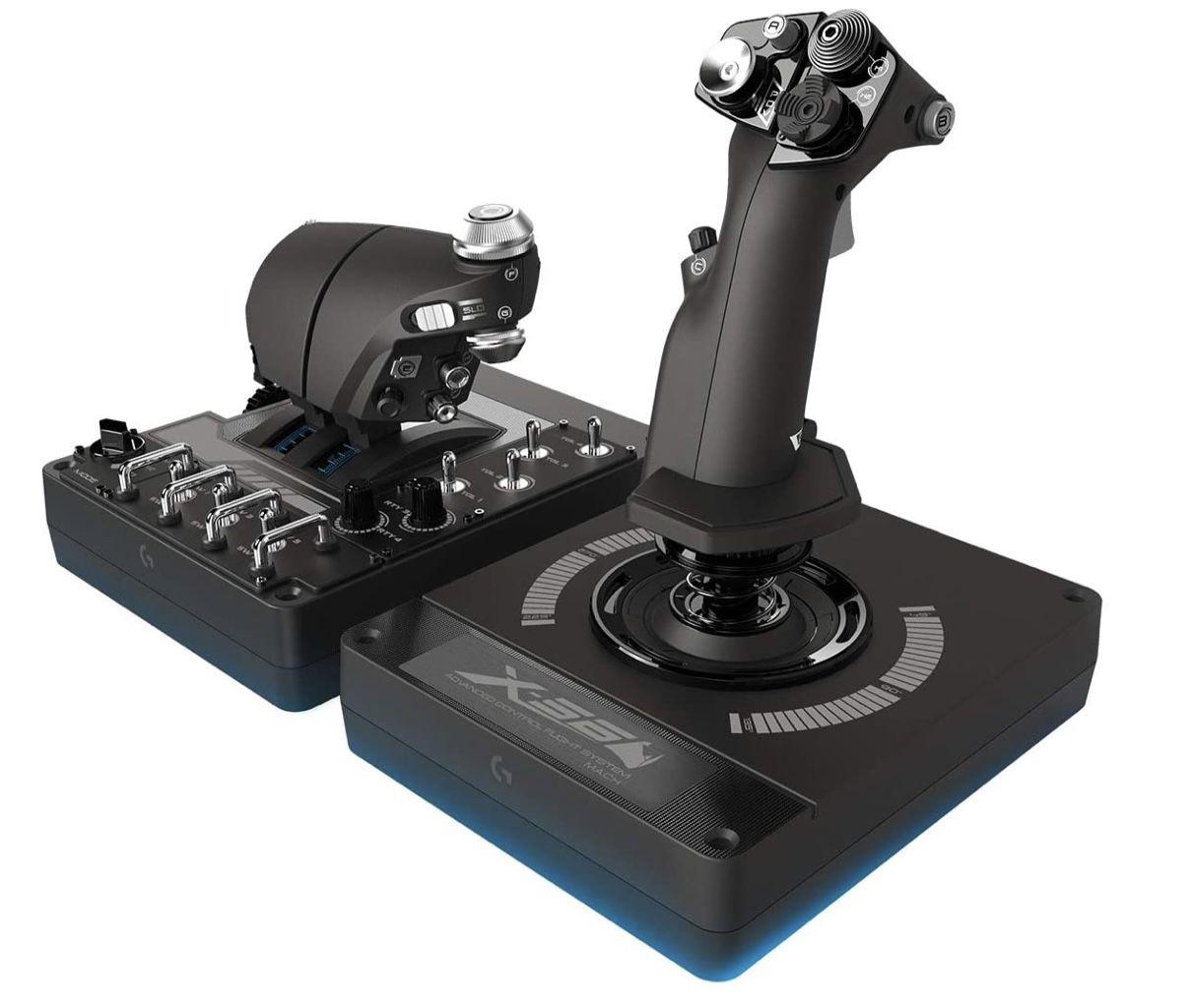 Logitech G X56 H.O.T.A.S. Schubregler & Stick-Controller für 212,55€ (statt 235€)