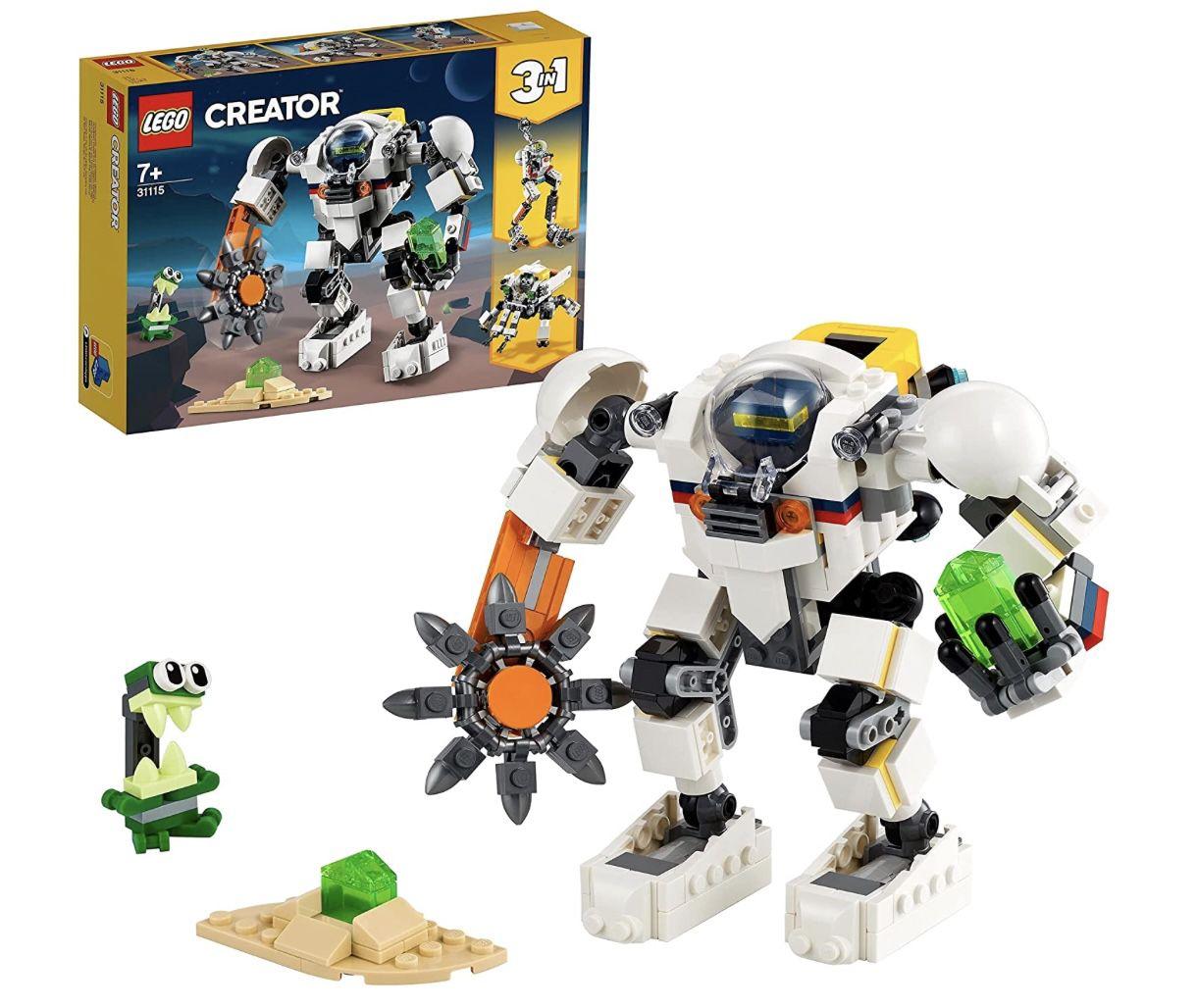 LEGO 31115 Creator 3-In-1 Weltraum-Mech Spielzeug mit Roboter und Lastenträger für 15,99€ (statt 20€) – Prime