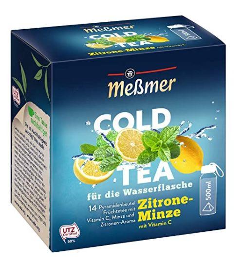 5 Packungen Meßmer Tee zum Preis von 4 – z.B. 5x Cold Tea Zitrone-Minze für 11,21€ (statt 15€)