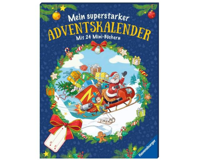 Mein superstarker Adventskalender mit 24 Mini-Büchern (2019) für 6€ (statt 12€)