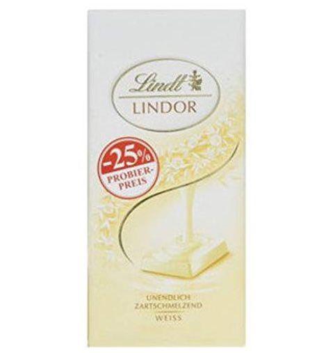 5x Lindt Lindor Schokolade weiß (100 g) ab 5,21€(statt 10€) – Prime Sparabo