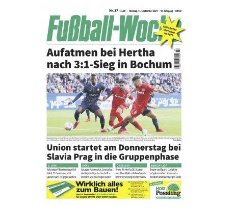 12 Ausgaben Fußball Woche für 36€ – Prämie: 35€ Amazon Gutschein