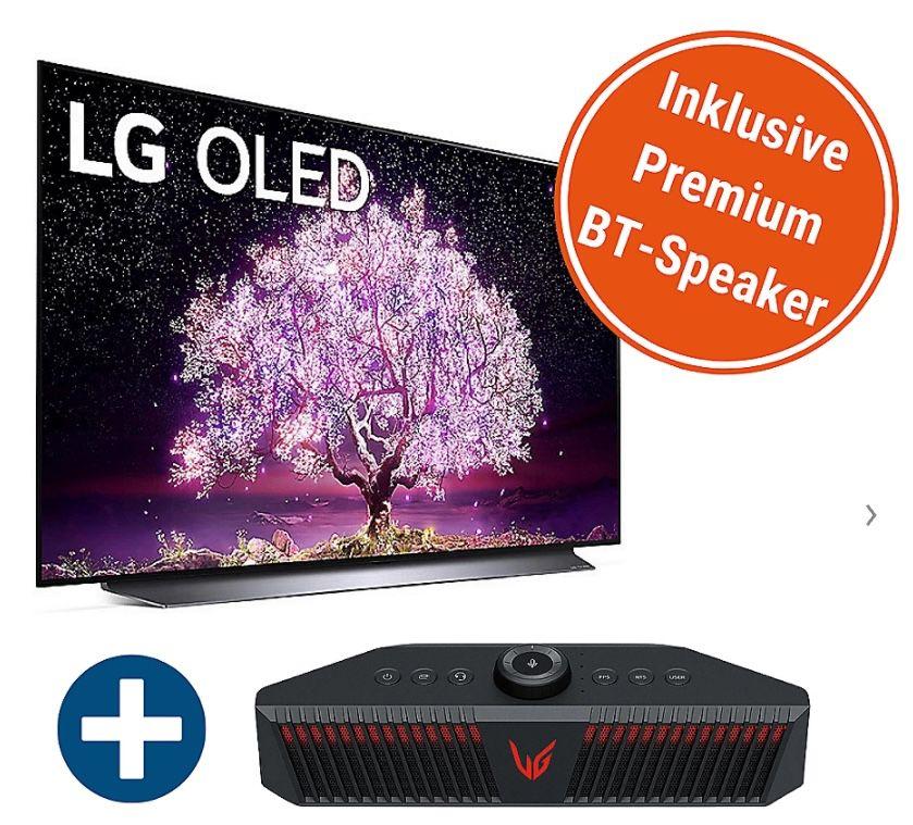 LG OLED55C17LB OLED 55 Zoll inkl. LG GP9 BT-Speaker für 1.299€ (statt 1.543€)