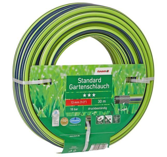 """30 Meter toom Gartenschlauch """"Standard"""" phthalatfrei Ø 13 mm (1/2″) ab 14,39€ (statt 28€)"""