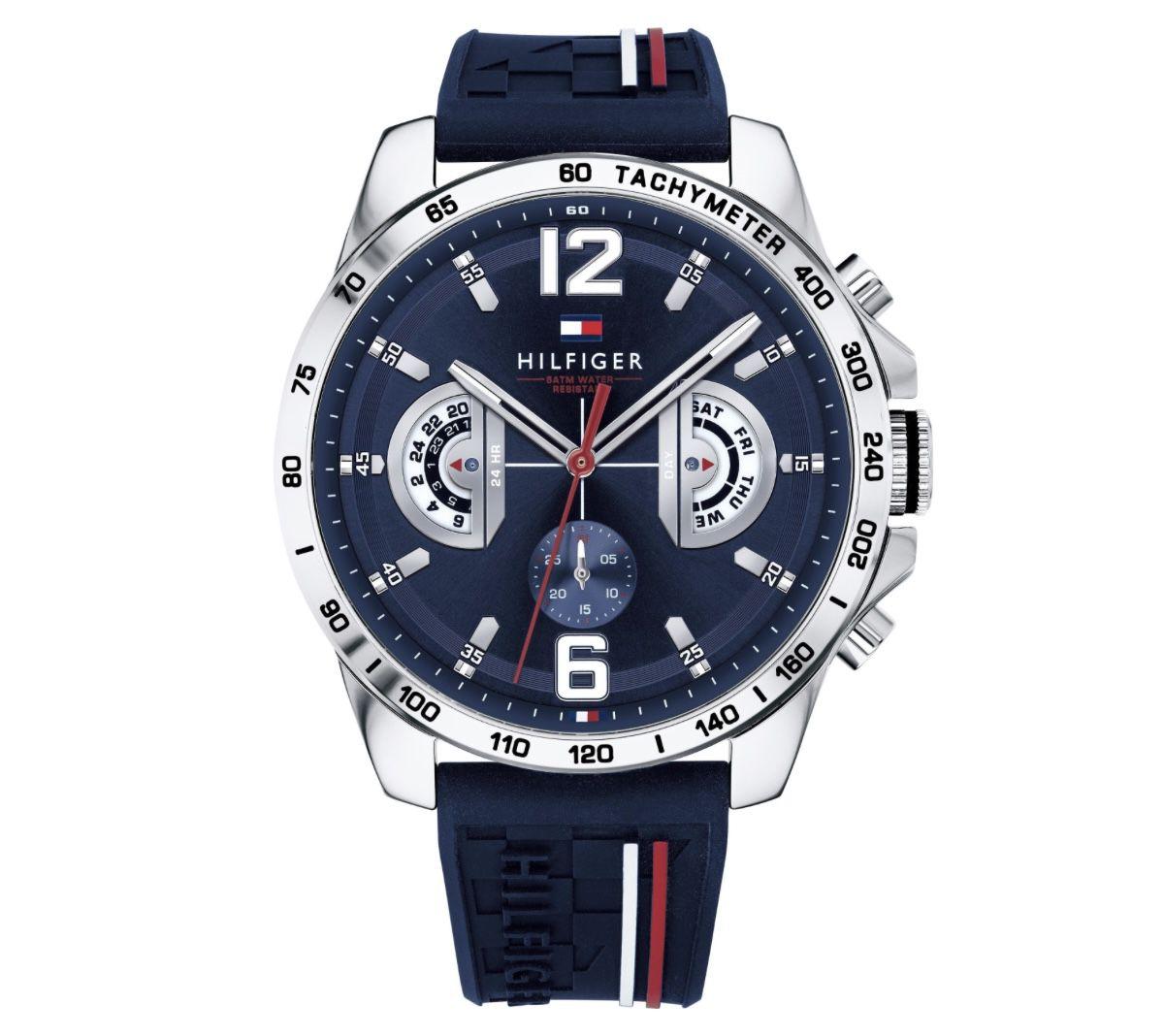 Tommy Hilfiger Unisex Multi-Zifferblatt Quarz Uhr mit Silikonarmband für 90,56€ (statt 109€)