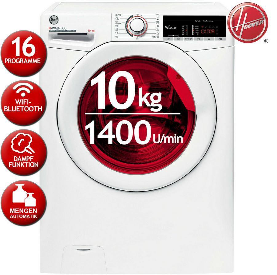HOOVER H3WS 4105TE/1 S   smarte Waschmaschine 10kg 1.400U/min für 299,90€ (statt 350€)
