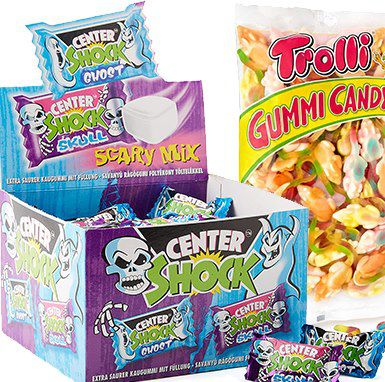 Halloween Süßigkeiten bei Amazon im Sale z.B. 100 Center Shocks ab 4,74€ – Prime