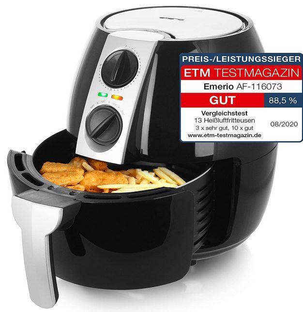 Emerio Af 116073 Heißluftfritteuse  4,5l für 24,94€ (statt 60€)