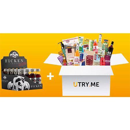 UTRY.ME – Probier-Box mit Supermarkt-Produktneuheiten + 20x Fläschchen Party-Schnaps Gratis für 18,68€