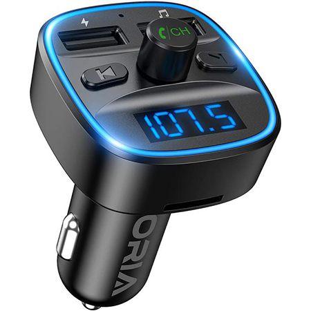 ORIA – Bluetooth Radio Adapter mit Mikrofon & zwei USB Ports für 9,59€ (statt 16€)