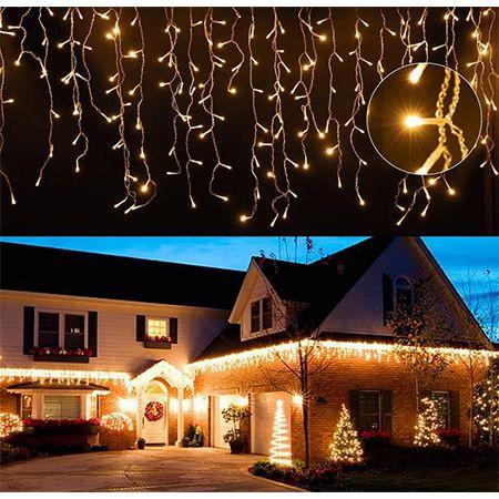 Einfeben LED Eisregen Lichterkette mit 15 Meter Länge und 600LEDs für 19,43€ (statt 36€)