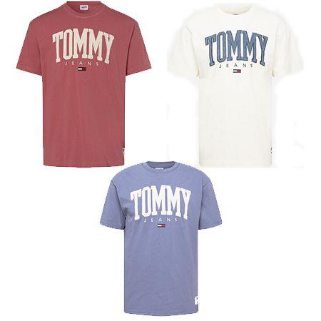 Tommy Jeans – Herren T-Shirt mit Brustprint in drei Farben für 39,92€ (statt 50€)