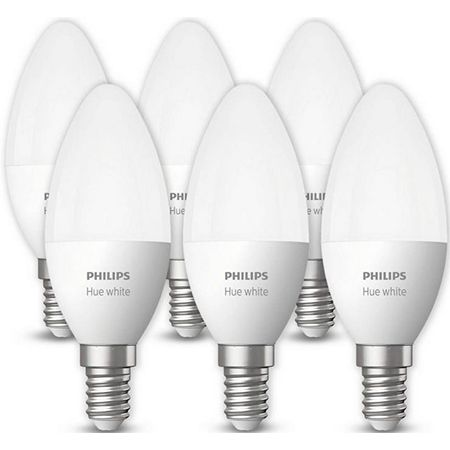 6er Pack Philips Hue LED-Lampen – 5,5W, E14, Warmweiß für 55,90€ (statt 78€)
