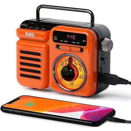 Radioddity RW3 Kurbelradio mit Wiederaufladbarer 3000mAh Batterie für 27,94€ (statt 43€)