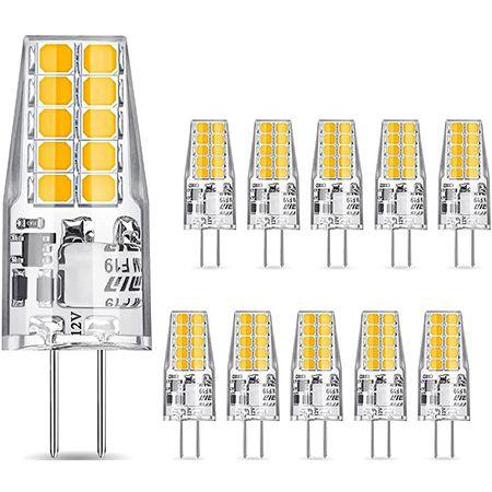 10er Pack Glime G4 LED Lampen 3.5W 400LM – Birnen Ersatz für 30W Halogenlampen für 7,79€ (statt 13€)