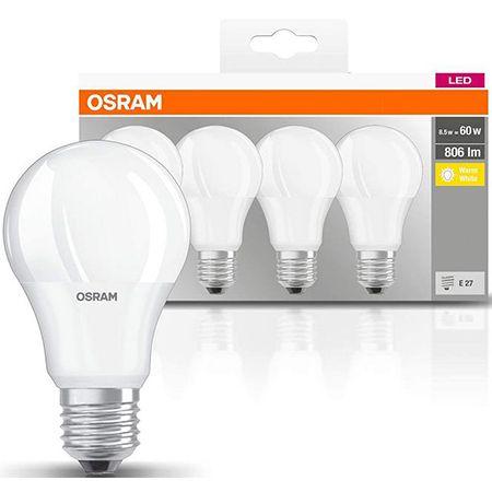 4er Pack Osram LED Base Classic A Lampe – E27, 8,5 Watt für 3,52€ (statt 6€) – Prime
