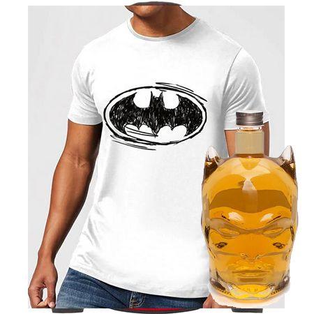 Batman Bundle – Herren T-Shirt + Spirituosenflasche für 30€ (statt 48€)