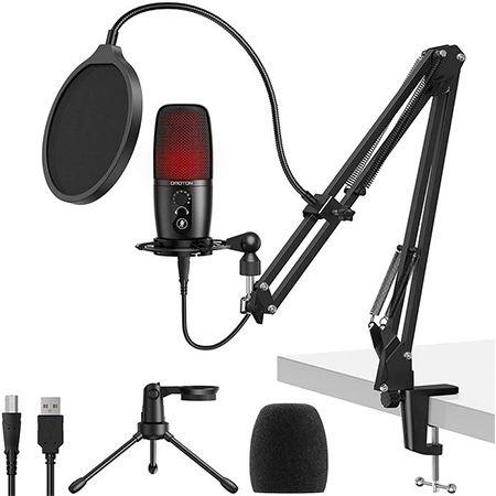 OMOTON USB Gaming Kondensatormikrofon mit Stummschaltungstaste für 26,99€ (statt 60€)