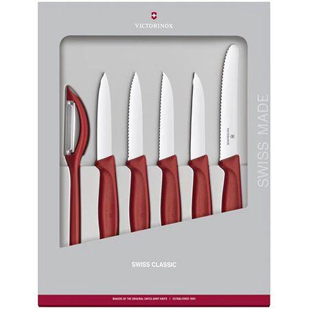 Victorinox Swiss Classic Gemüsemesser-Set in Rot – 6-teilig für 27,94€ (statt 37€)