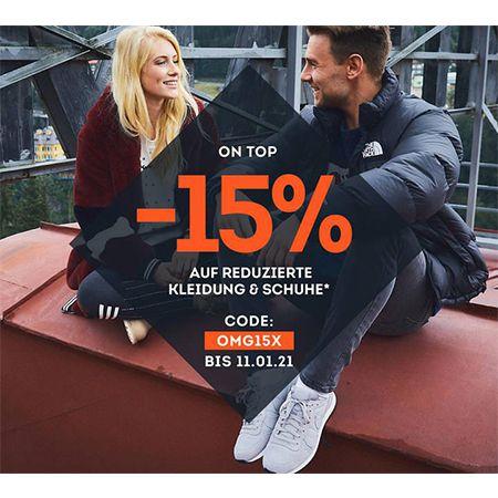 SportScheck: 15% Extra Rabatt auf Kleidung und Schuhe – 3,95 Versandkosten
