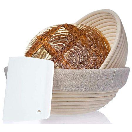2er Set riijk Gärkorb + Teigschaber für Brot und Brotteig für 18,98€ (statt 30€)