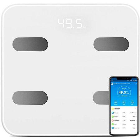 Digitale Personenwaage mit Bluetooth – 17 Körperdaten per App abrufbar für 16,99€ (statt 28€)