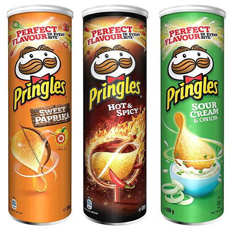 5x Pringles Hot & Spicy, Sour Cream & Sweet Paprika ab 5,81€   Prime Sparabo