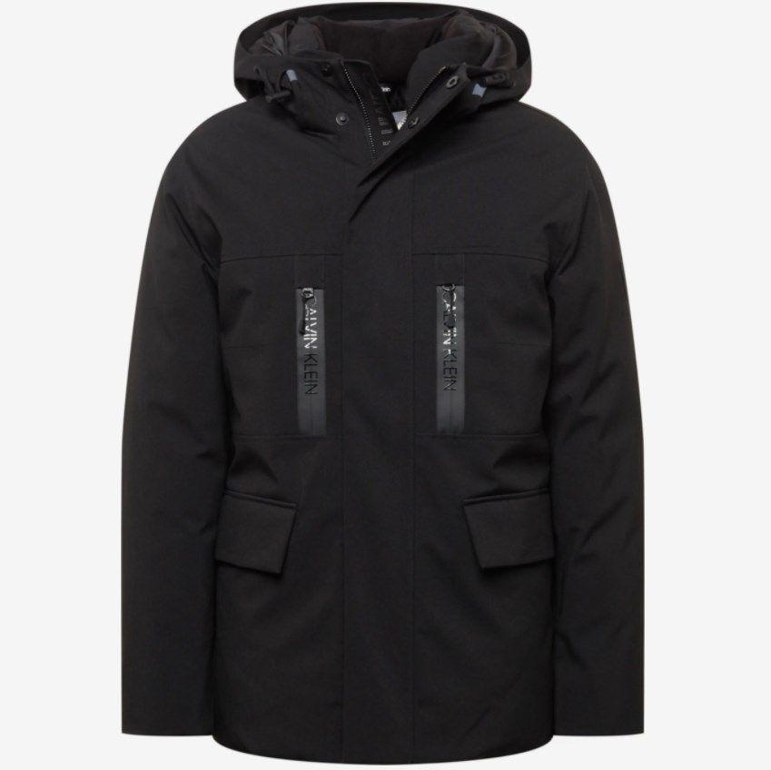 Calvin Klein Premium Canvas Parka mit Reißverschlusstaschen in Schwarz ab 263,20€ (statt 330€)