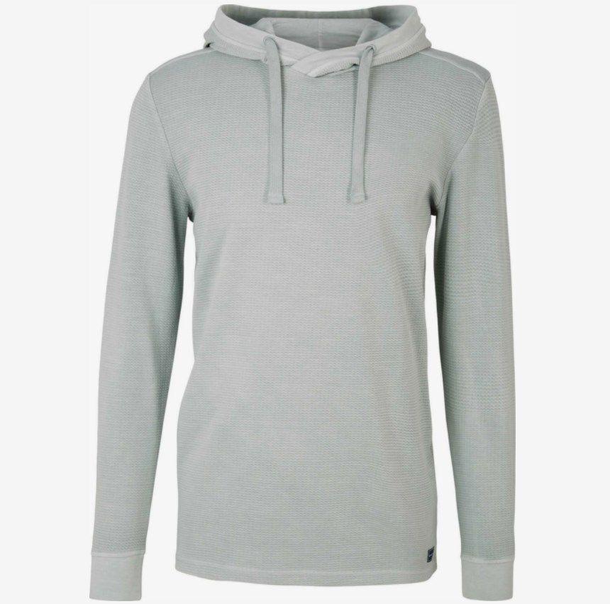 Tom Tailor Hoodie mit Waschung in Grau ab 31,99€ (statt 40€)