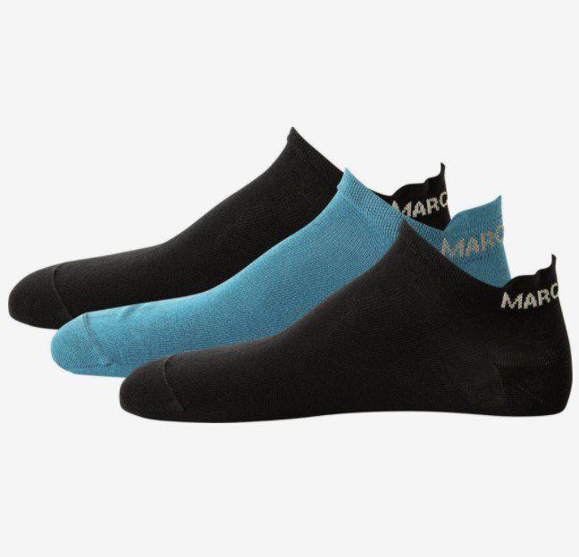 Marc O'Polo Sneaker Socken 'Larsen' in Aqua/Schwarz – 3er-Pack ab 7,01€ (statt 8,80€)