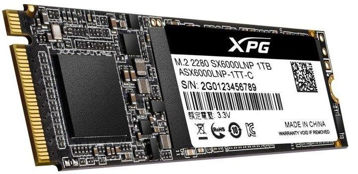 ADATA XPG SX6000 Lite interne SSD mit 1TB (M.2 2280)   PCI Express 3.0 für 78,72€ (statt 86€)