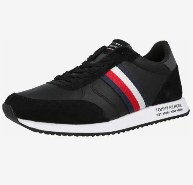 "Tommy Hilfiger Herren Sneaker ""Runner Lo Leather Mix"" in Navy ab 79,92€ (statt 90€)"