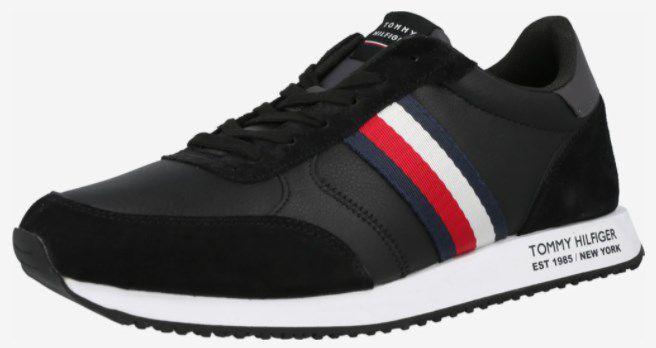 Tommy Hilfiger Herren Sneaker Runner Lo Leather Mix in Navy ab 79,92€ (statt 90€)