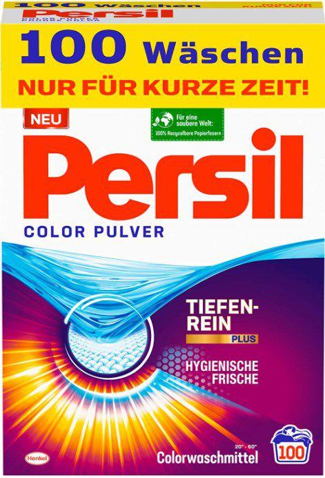 Persil Color Wasch Pulver für leuchtende Farben   100 Waschladungen ab 11,19€ (statt 14€)   Sparabo