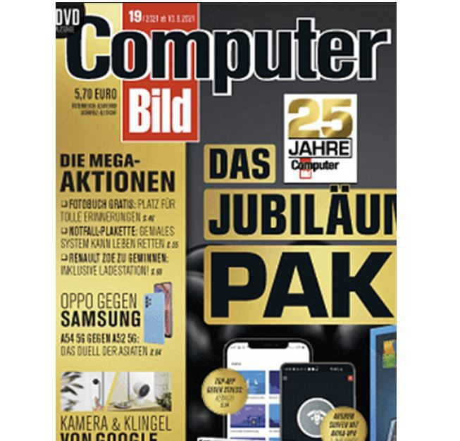 GRATIS! 6 Ausgaben Computer Bild mit DVD für 0€ (statt 37€)